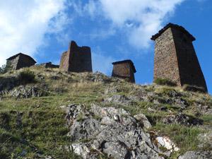 Tours de guet dans le Caucase géorgien
